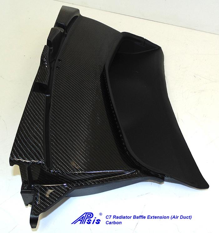C7 Radiator Baffle Extension-CF-individual-5