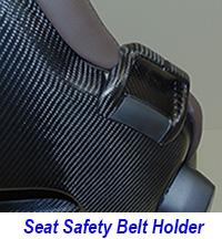 C7 Seat Belt Holder-matt-pass-installed on seat only-1 200