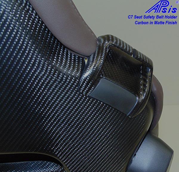 C7 Seat Belt Holder-matt-pass-installed on seat only-1