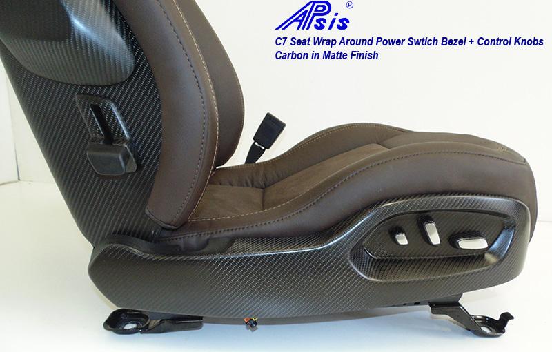 C7 Seat Wrap Around Bezel-matte-installed on seat-1
