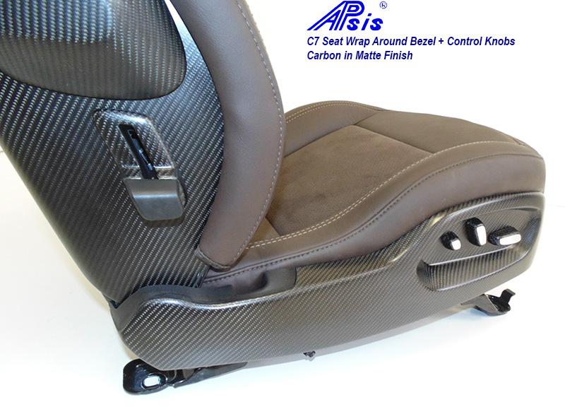 C7 Seat Wrap Around Bezel-matte-installed on seat-2