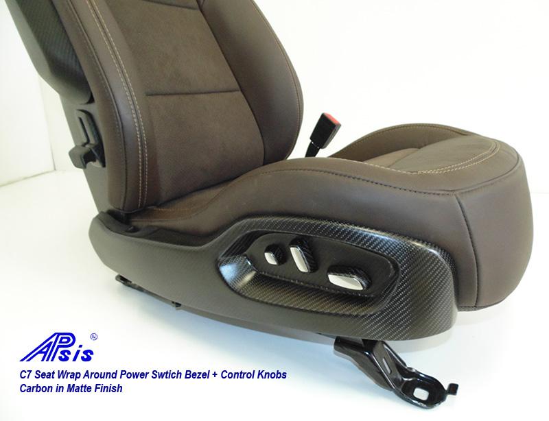 C7 Seat Wrap Around Bezel-matte-installed on seat-3