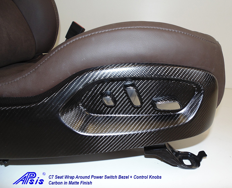 C7 Seat Wrap Around Bezel-matte-installed on seat-4 close shot