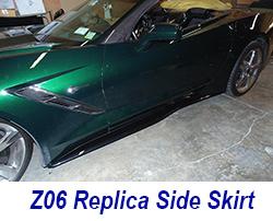 C7 Side Skirt-carbonflash installed on vert-2 250