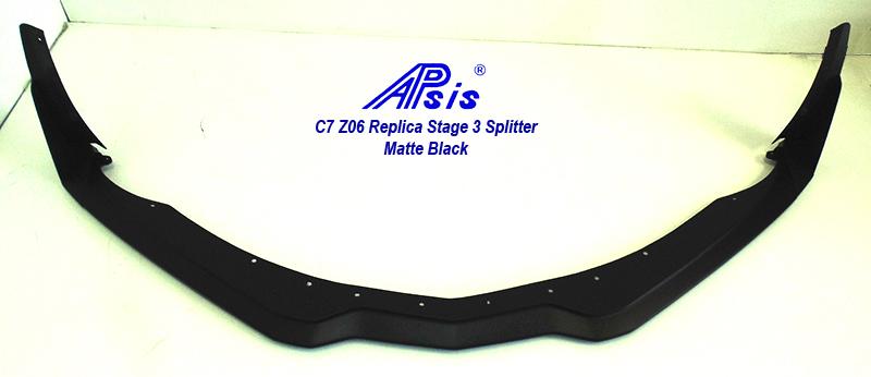 C7Z06REPLICASTAGE3SPLITTERMATTBLACK1
