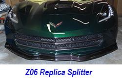 C7Z06SPLITTERTEMPMOUNTONVERT 250