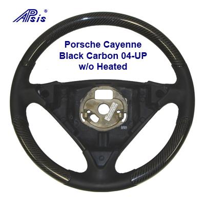 Cayenne Black Caron Steering Wheel- 400 04-UP w-o Heated
