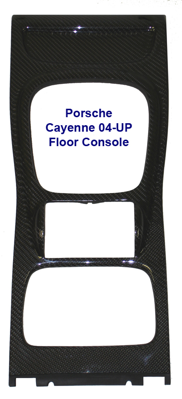 Cayenne Floor Console Only-black carbon- 385x800