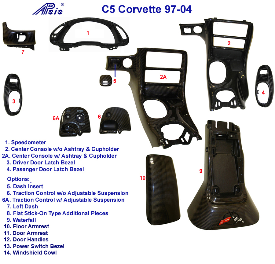 Corvette Center Console-diagram-w-description 768