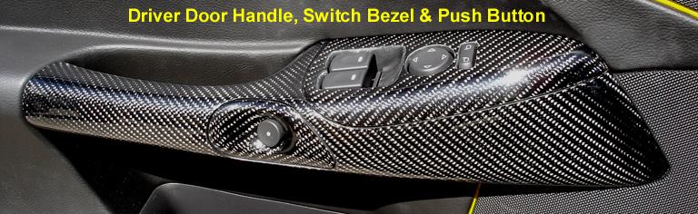 Driver Door Handle - Switch Bezel & Push Button