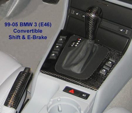 E46 Black CF installed-F Console SK EB - 450