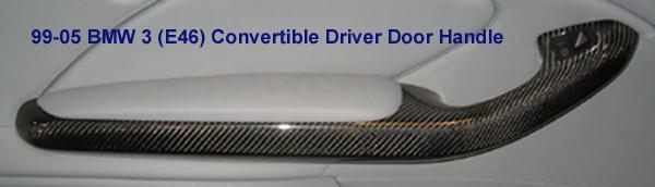 E46 Conv. Driver Door Handle Blk CF - 600