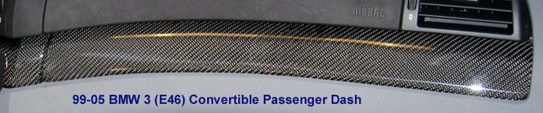 E46 Conv. Pass Dash Blk CF - 768