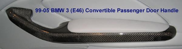 E46 Conv. Pass Door Handle Blk CF - 600
