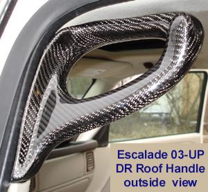 Escalade Blk CF-DR Roof Handle outside view-300 w-description