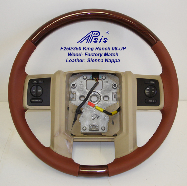 F250 King Ranch-sienna leather w-matching factory wood-1