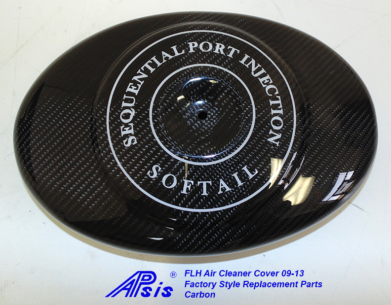 FLH Air Cleaner Cover-factory style w-lettering-soft tail-3