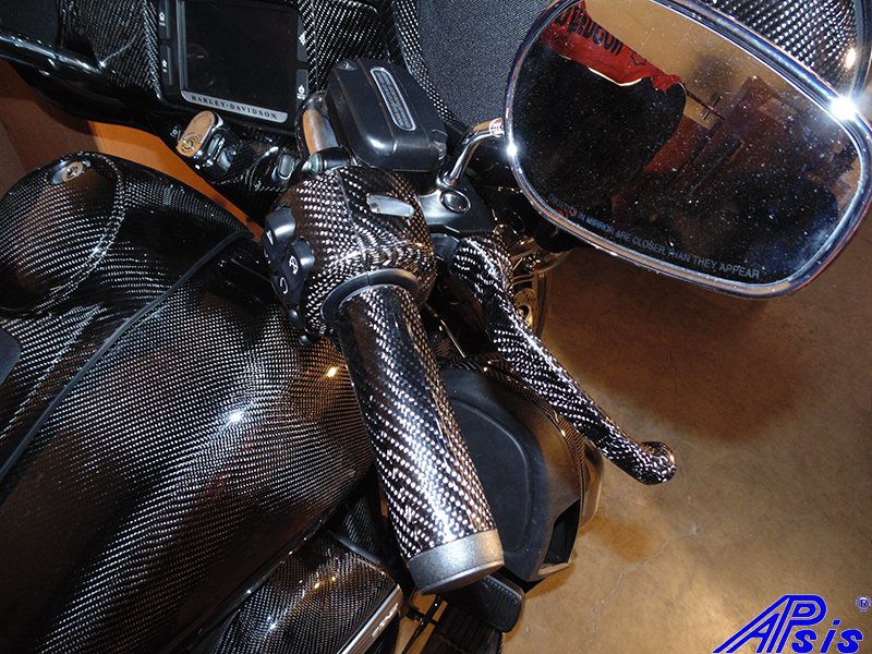 FLH Brake Lever w-control cover completed-installed-2
