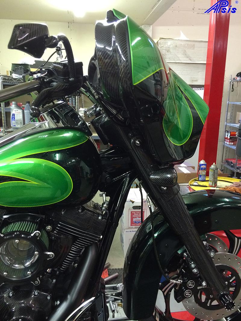 FLH Front End-installed on chris bike-2