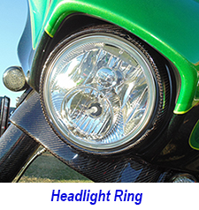 FLH Headlight Ring installed on chris bike 225