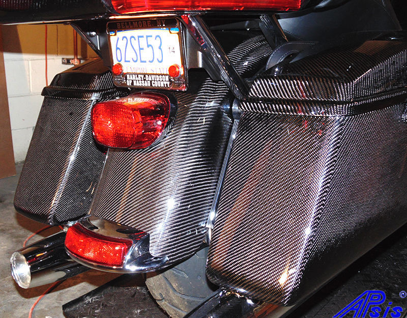 FLH Rear Fender 14-UP-installed-taken at warehouse-2a
