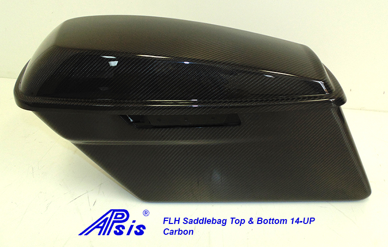 FLH Saddlebag 2014-Top+Bottom-CF-individual-4