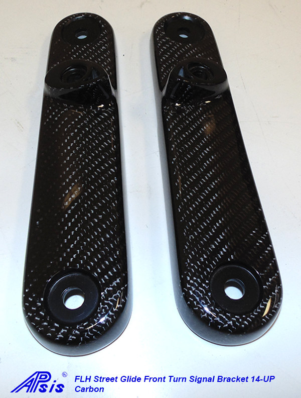 FLH Street Glide Front Turn Signal Bracket only-pair-3
