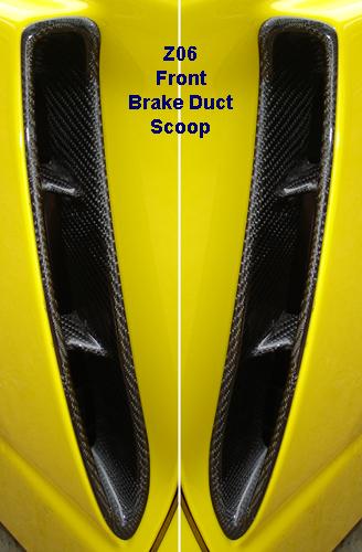 Front Brake Duct Scoop