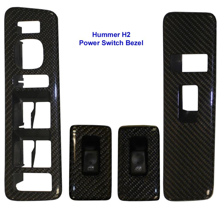 H2 Black CF-4 Power Switch Bezel-768