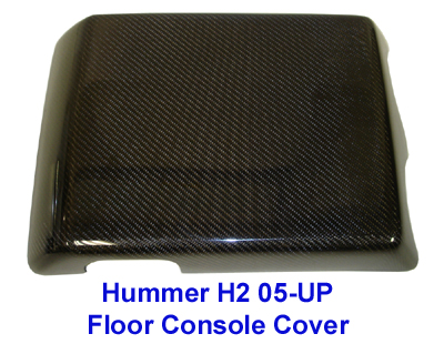 H2 Black CF-Floor Console Cover 05-UP-400