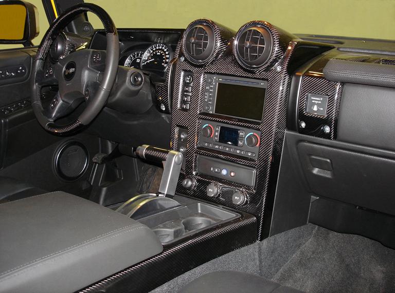 H2 Black CF-Full Dash-center right view - 768