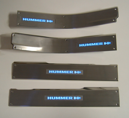 Hummer H2 Sill Plate- w-Light- w-Screw 450