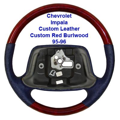 Impala 95-96-custom leather-custom red burlwood-done