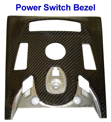 Mercedes CL63 AMG 07-UP - power switch bezel-  768