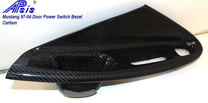 Mustang 94-04 Driver Power Switch Bezel-CF-individual-2