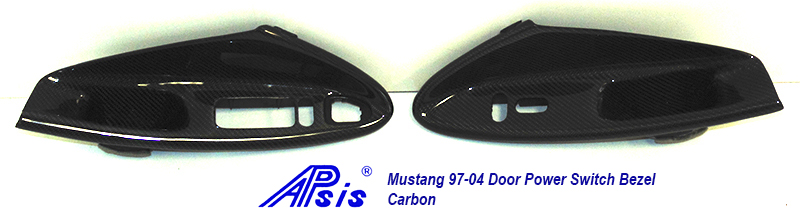 Mustang 94-04 Driver Power Switch Bezel-CF-individual-4 pair
