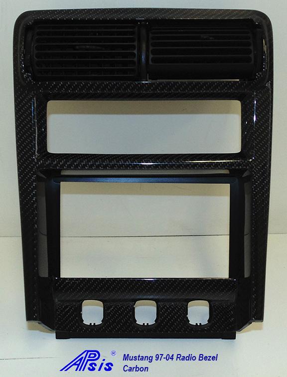 Mustang 97-04 Radio Bezel-CF-individual-1