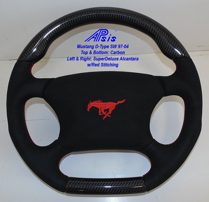 Mustang D-SW w-CF+SA w-red stitching w-airbag cover-1