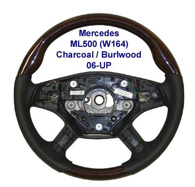 New ML500 (W164) 06-UP-Charcoal-burlwood-400