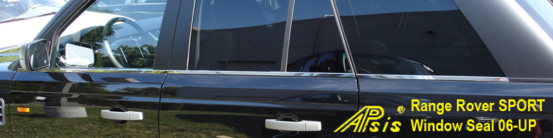 R R SPORT-Window Seal-Stainless-installed -rear side view-800