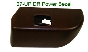R.R 07-UP DR Power Switch Bezel-Dark-300