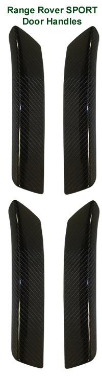 R.R.SPORT-Black CF-  Door Handle set 06-UP 72p 200