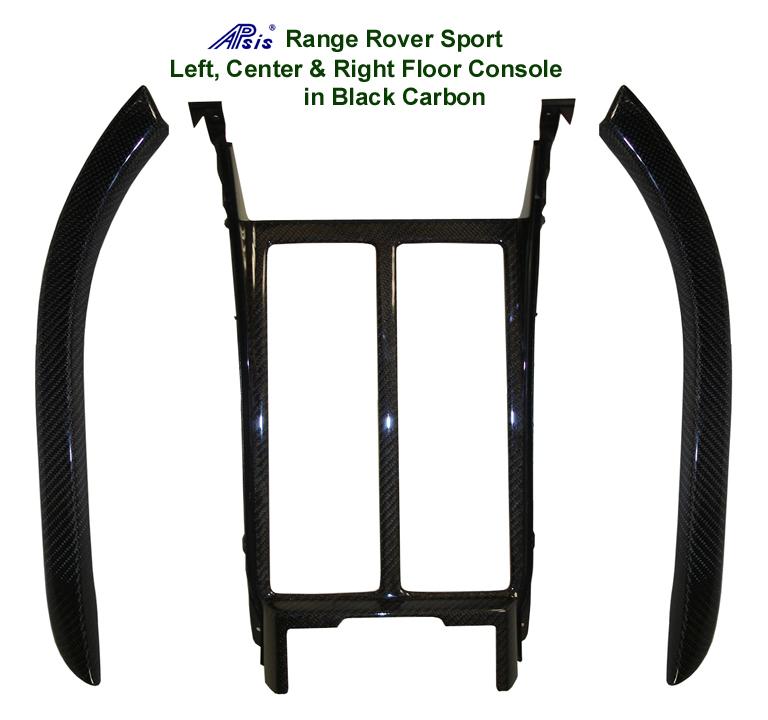 R.R.SPORT-Black CF-Floor Console Left Center & Right  set 72p 768