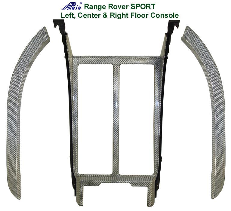 R.R.SPORT-Silver CF-Floor Console Left Center  & Right  set 72p 768