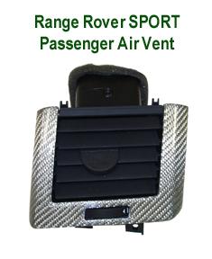 R.R.SPORT Silver CF-Passenger Air Vent-230