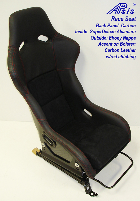 Race Seat mount on c5 rail-front left view-1