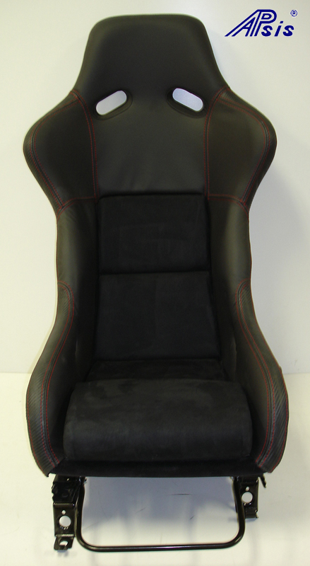 Race Seat mount on c5 rail-front view-2