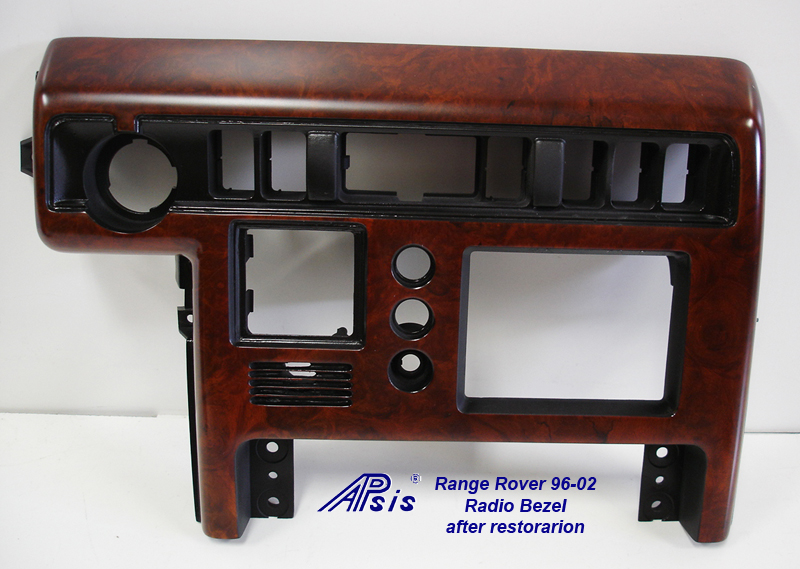 Range Rover 96-02-Radio Bezel-after restoration-1