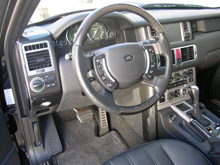Range Rover-Black CF Lamination-installed-left view 768