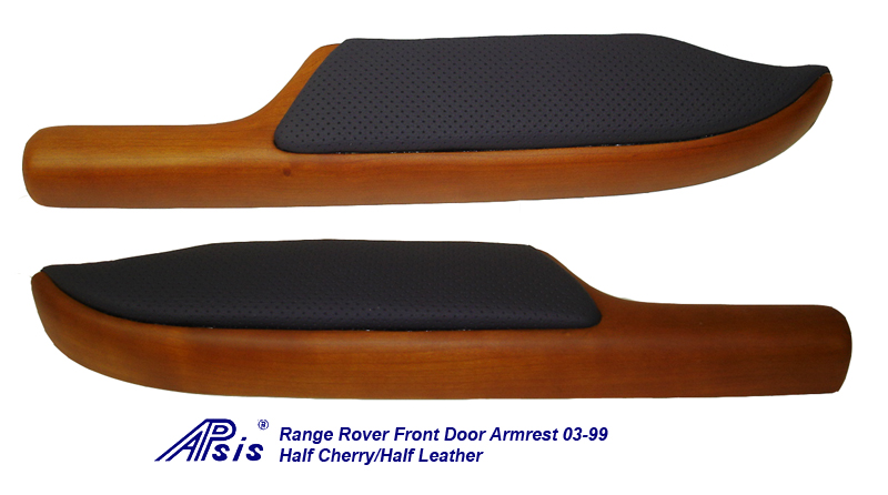 Range Rover Door Armrest-cherry + leather-both-1a